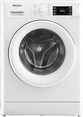 Whirlpool 8 kg Fully Automatic Front Load Washing Machine White