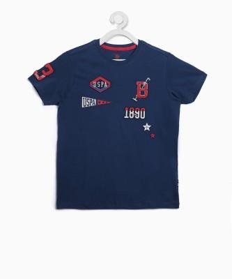 US Polo Kids Boys Applique Cotton T Shirt