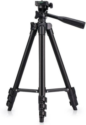 JMO27Deals Professional Tripod 3120 - Universal Tripod Portable & Foldable Camera - Mobile Tripod With Mobile Clip Holder Bracket | Fully Flexible Mount Cum Tripod | Stand with Three-dimensional Head & Quick Release Plate + Black Carry Bag for Canon | Nikon | Sony | Cameras | Camcorders | iPhone & Androids Tripod