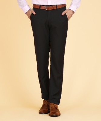 Peter England Slim Fit Men's Black Trousers