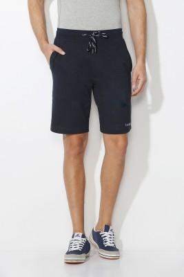 Van Heusen Solid Men's Dark Blue Basic Shorts