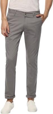 Urbano Fashion Slim Fit Men Grey Trousers