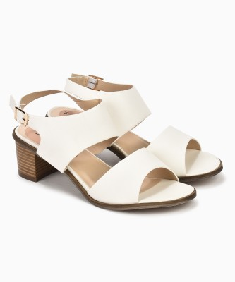 Miss CL By Carlton London Women WHITE Heels