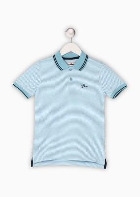 BARE KIDS Boys Striped Cotton T Shirt