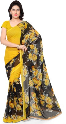 Anand Sarees Floral Print Daily Wear Synthetic Georgette Saree