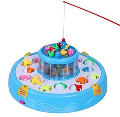 Be you own label Electronic And Rotating With Flashing Gogo Fishing Toy Set For Kids Board Game