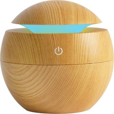 care 4 Unique Round Wood USB Aroma Essential Oil Diffuser Ultrasonic Cool Mist Humidifier Air Purifier 7 Color Change LED Night Light Portable Room Air Purifier