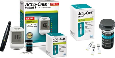 Accu-Chek Instant Meter with Instant Test Strips Glucometer