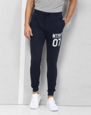 Metronaut Athleisure Solid Men's Dark Blue Track Pants