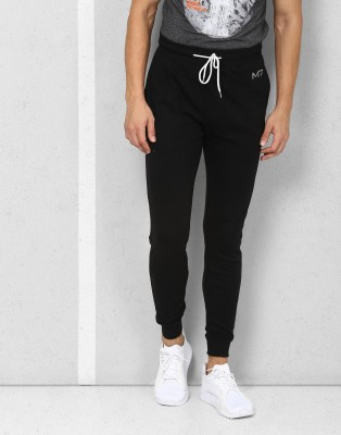 Metronaut Athleisure Solid Men's Black Track Pants