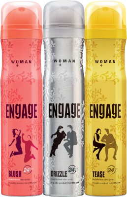 Engage Combo Pack Deodorant Spray  -  For Women