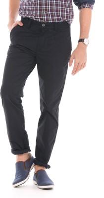 U.S. Polo Assn Slim Fit Men Black Trousers