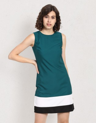 Metronaut Women's Shift Dark Green Dress
