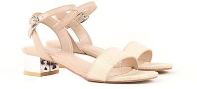 Miss CL By Carlton London CLL-3606 Women Beige Heels