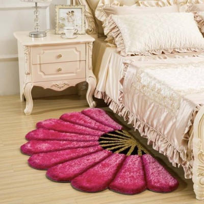 THE FRESH LIVERY Pink Polyester Area Rug