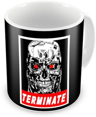 CHAPLOOS Terminate Aliens And Machines Coffee, 12 Oz, Perfect for Coffee and Tea Lovers - Great Cup for Him or Her At Home or Office Ceramic Mug