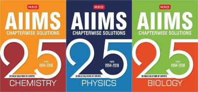 25 Years AIIMS Chapterwise Solutions PCB COMBO 3 BOOK SET NEW EDITION 2019