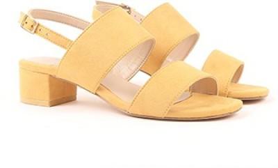 Miss CL By Carlton London Women YELLOW Heels