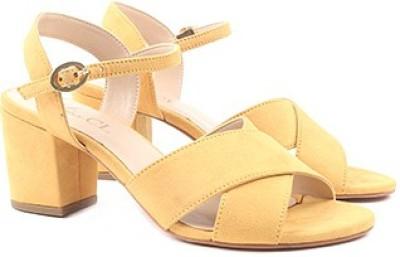 Miss CL By Carlton London Women MUSTARD Heels
