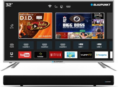 Blaupunkt 80cm (32 inch) HD Ready LED Smart TV  with External Soundbar