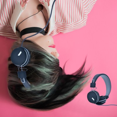Toreto AUX HEADPHONE CATCHY Wired Headset with Mic