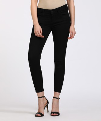 Jealous 21 Super Skinny Women Black Jeans