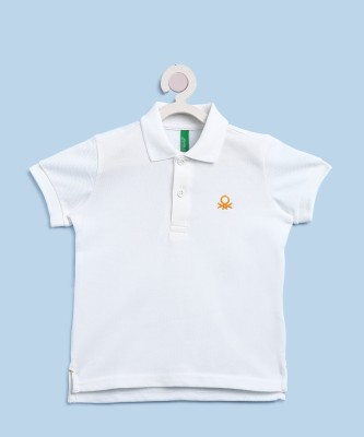 United Colors of Benetton Boys Solid Cotton T Shirt