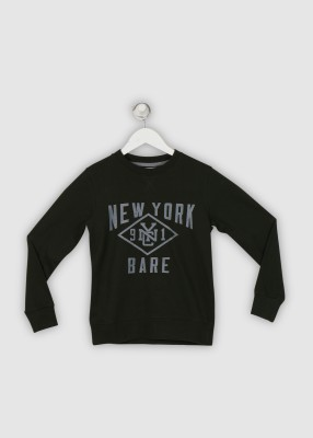 BARE KIDS Full Sleeve Printed Boys Sweatshirt