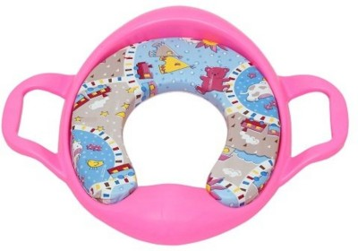 Ehomekart Cushioned Toilet Training Potty Seat with Handles-Pink Potty Seat