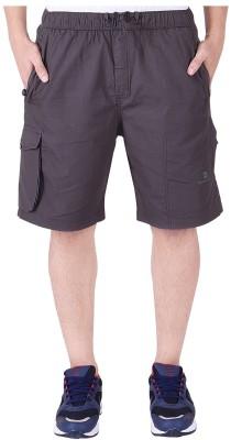 Mountain colours Solid Men Grey Bermuda Shorts