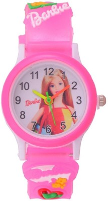 Montres New Fresh And Fancy Pink Barbie Kids Analog Watch  - For Girls
