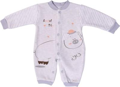Icable Baby Boy's & Baby Girl's Grey Bodysuit