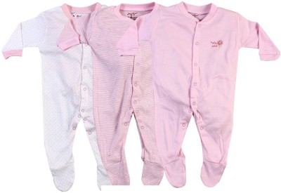 Pebbles Baby Boy's & Baby Girl's Pink Sleepsuit
