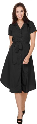 Crease & Clips Women's Shirt Black Dress
