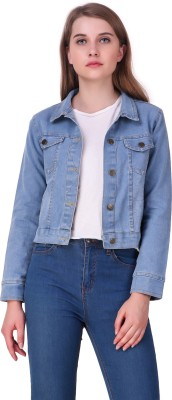 Clo Clu Full Sleeve Solid Women Denim Jacket