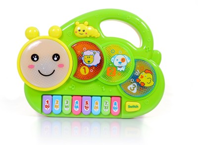 Tiny's World Keyboard Musical Toy with Flashing Lights Animal Sounds and Songs