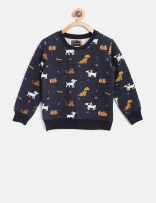 NautiNati Full Sleeve Self Design Baby Boys Sweatshirt