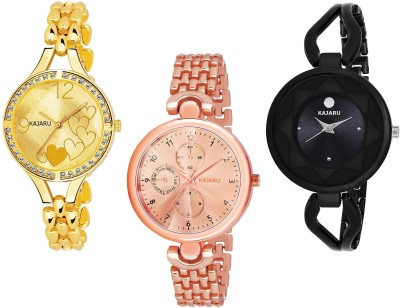 KAJARU L_1063 PACK OF 3 WATCHES FOR GIRLS Watch  - For Women