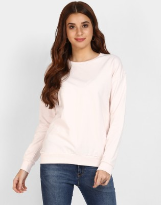 Ann Springs Full Sleeve Solid Women Sweatshirt
