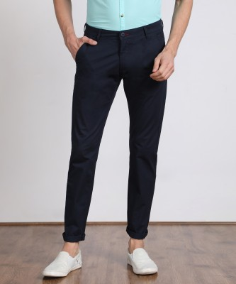Flying Machine Slim Fit Men Blue Trousers