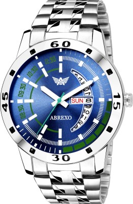 Abrexo Abx2054-BL BLUE DAIL Day & Date Feature Watch  - For Men