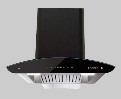 FABER Primus Energy TC HC BK 90 cm , 1500m3\hr auto clean Wall Mounted Chimney