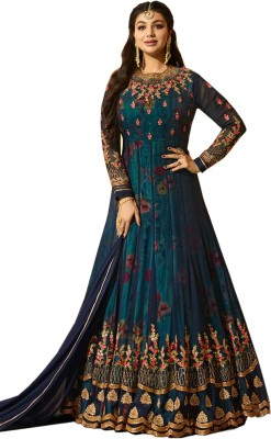 MRCROZY Georgette Embroidered Semi-stitched Salwar Suit Dupatta Material