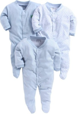 Pebbles Baby Boy's & Baby Girl's Blue Sleepsuit