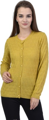 TAB91 Women's Button Self Design Cardigan