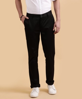John Players Slim Fit Men's Black Trousers