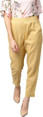 Style N Shades Slim Fit Women Beige Trousers