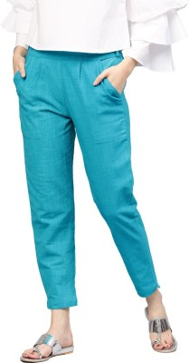 Style N Shades Slim Fit Women Light Blue Trousers