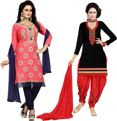 7Eleven Store Cotton Blend Embroidered Salwar Suit Material