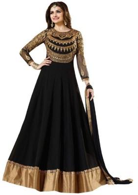 DHAMELIYAFASHION Georgette Embroidered Semi-stitched Salwar Suit Dupatta Material